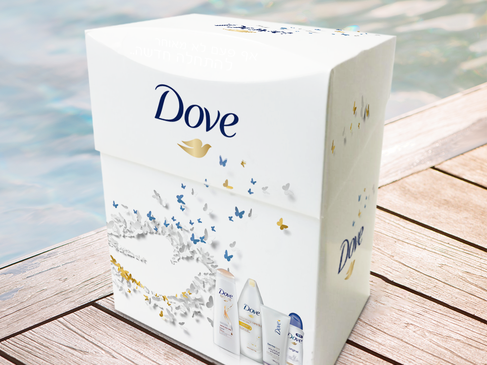 Dove - Packaging, promotional packaging and exhibition design