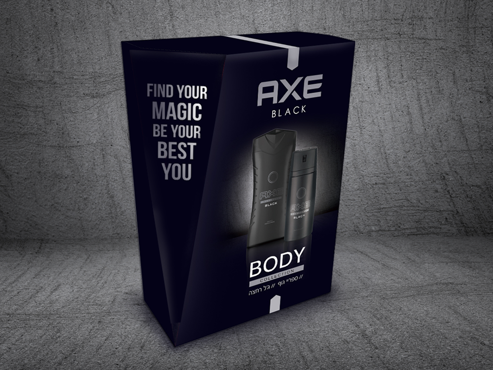 AXE - Packaging, promotional packaging and exhibition design