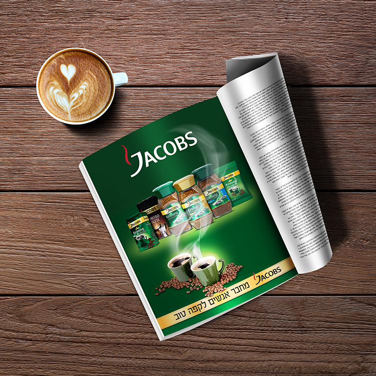 Jacobs – Advertising, banners, point of purchase elements, promotional packaging and events design