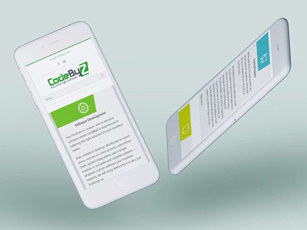 CodeByZ Branding, stationary and website design